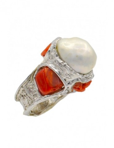 BAGUE PERLE DE CULTURE,...